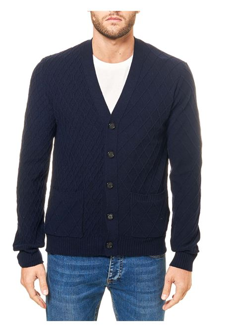 BLUE WOOL CARDIGAN PAOLO PECORA | Cardigans | A04070776728