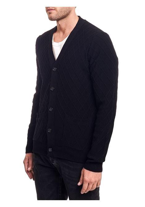 BLACK WOOL CARDIGAN PAOLO PECORA | Cardigans | A04070779000