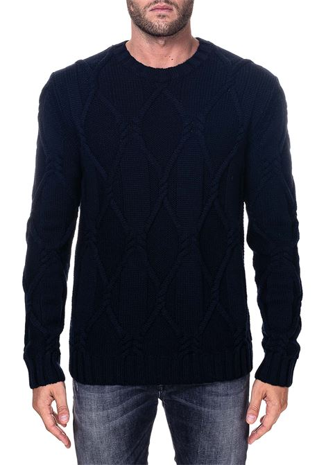 BLUE WOOL SWEATER PAOLO PECORA | Sweaters | A06670126728