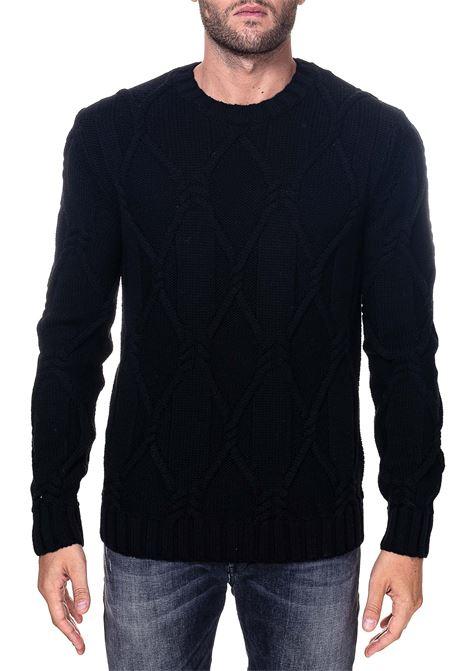 BLACK WOOL SWEATER PAOLO PECORA | Sweaters | A06670129000
