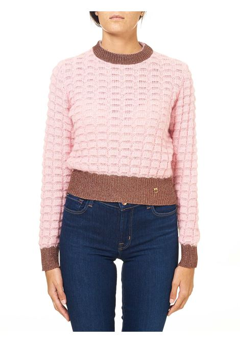 CROP PULLOVER IN MIXED MOHAIR AND ALPACA DRY MODEL PINKO | Sweaters | ASCIUTTO1B14X1Y6QQP59