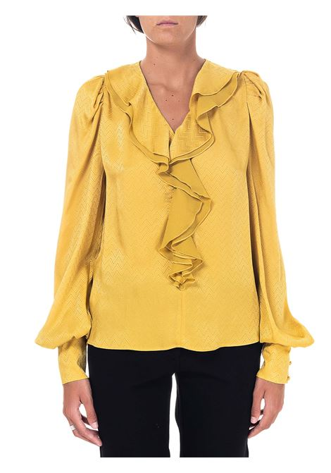 ASTROMETRY MODEL YELLOW JACQUARD BLOUSE 2 PINKO | Blouse | ASTROMETRIA2 1B14VM8256H54