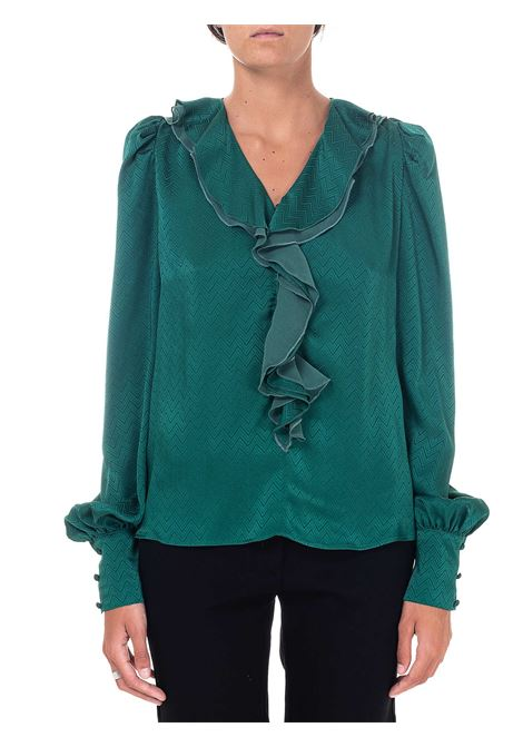 ASTROMETRY MODEL GREEN JACQUARD BLOUSE 2 PINKO | Blouse | ASTROMETRIA2 1B14VM8256X43