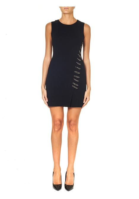 BLACK SHORT DRESS WITH FRONT PIN APPLICATION, BENIN MODEL PINKO | Dress | BENIN1G155TY6CBZ99