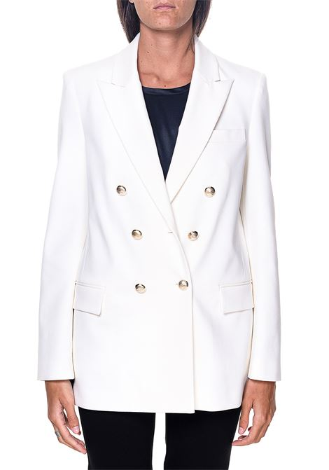 DOUBLE-BREASTED WHITE BLAZER IN FABRIC STITCH CHINOTTO MODEL PINKO | Jackets | CHINOTTO3 1G158S1739Z00