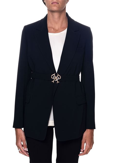 BLACK JACKET WITH KNOT BAND COLA MODEL 1 PINKO | Jackets | COLA1 1G159LY5NHZ99