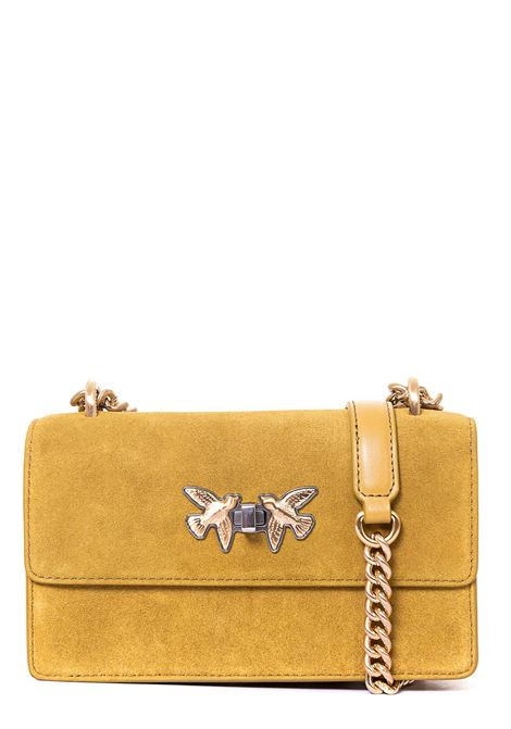 YELLOW MINI FREE FLIGHT BAG SEVENTIE IN SUEDE PINKO | Bags | FREEFLIGHTMINISEVENTIESCL 1P21T0Y6JEA84