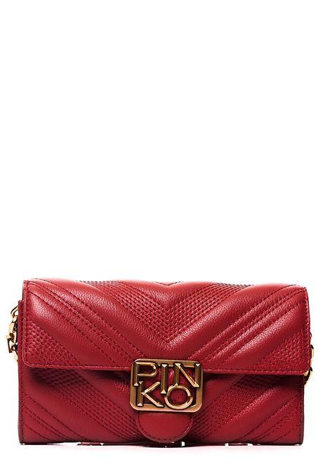 RED LEATHER BAG MODEL WALLET CHEVRON LOGO PINKO | Bags | LOGOWALLETCHEVRONNECR72