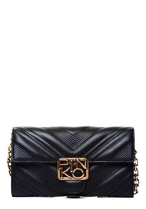 BLACK LEATHER BAG MODEL WALLET CHEVRON LOGO PINKO | Bags | LOGOWALLETCHEVRONNECZ99