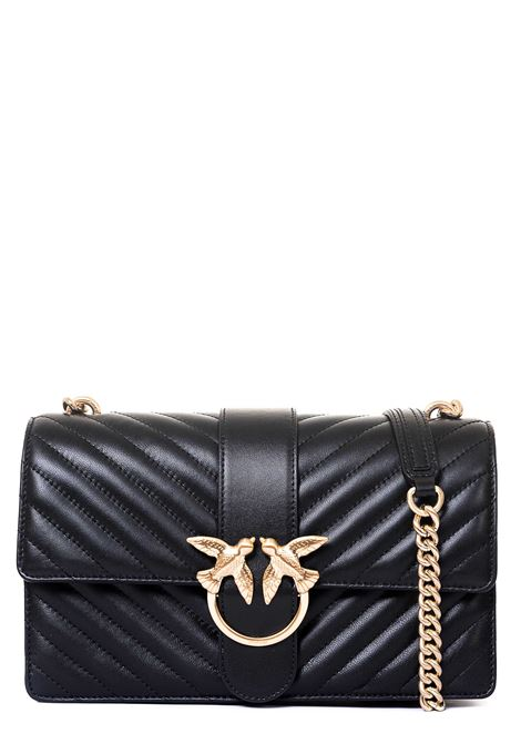 BLACK LOVE CLASSIC ICON BAG IN NAPPA PINKO | Bags | LOVECLASSICICONVQUILTCL 1P21TKY6KTZ99