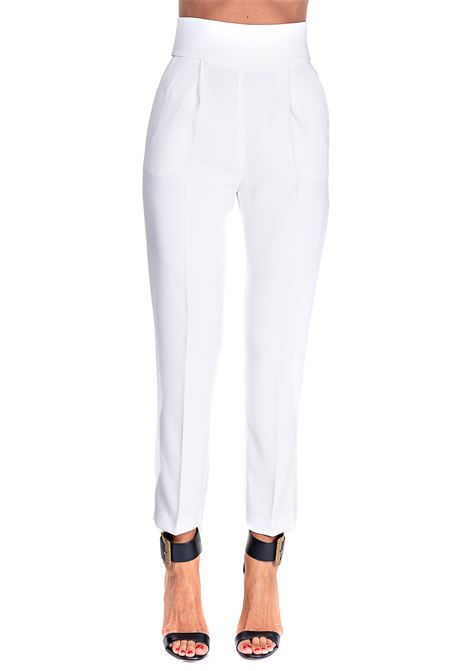 WHITE PANTS IN STRETCH CREPE NATALIA MODEL 4 PINKO | Pants | NATALIA4 1G159PY5NHZ05