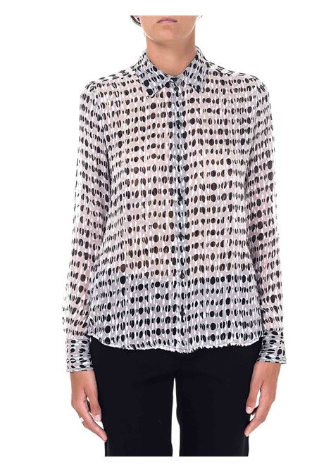POLKA DOT PRINT SATIN DEVORÉ SHIRT NICCOLO MODEL PINKO | Shirts | NICCOLO1G152NY6B3ZZ1