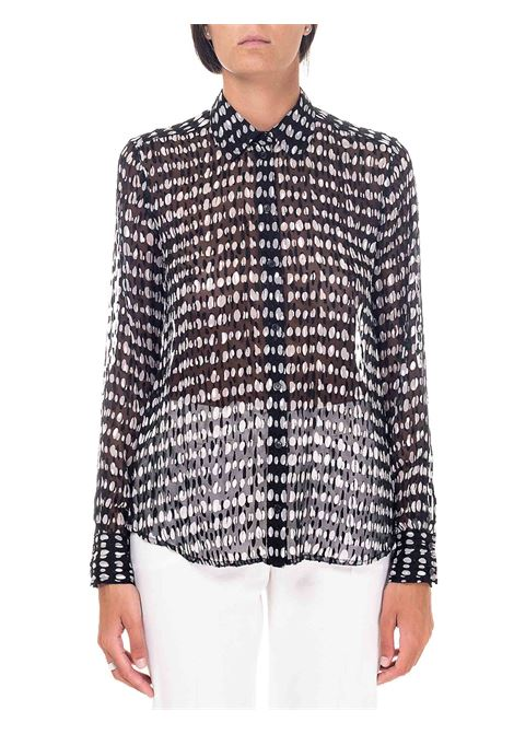 POLKA DOT PRINT SATIN DEVORÉ SHIRT NICCOLO MODEL PINKO | Shirts | NICCOLO1G152NY6B3ZZ2