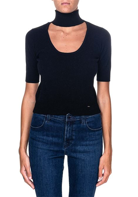 BLACK PULLOVER WITH FRONT CUT-OUT RADIANT MODEL1 PINKO | Sweaters | RADIANTE1 1B14X9Y6PJZ99