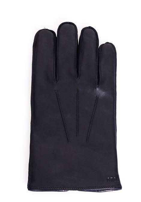 BLACK SHEEPSKIN GLOVES WITH FRONT LOGO POLO RALPH LAUREN | Gloves | 449777670001