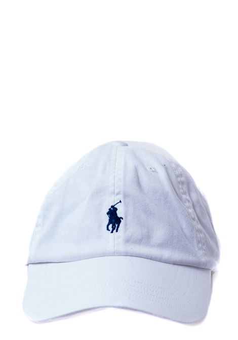 WHITE COTTON HAT WITH FRONT LOGO EMBROIDERY POLO RALPH LAUREN | Hats | 710548524001