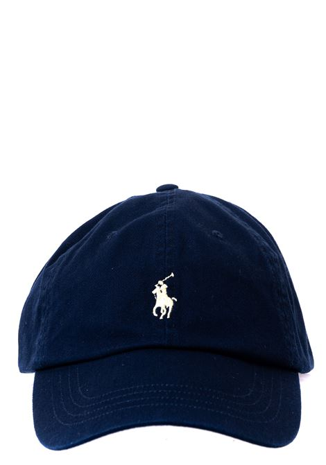 BLUE COTTON HAT WITH FRONT LOGO EMBROIDERY POLO RALPH LAUREN | Hats | 710548524006