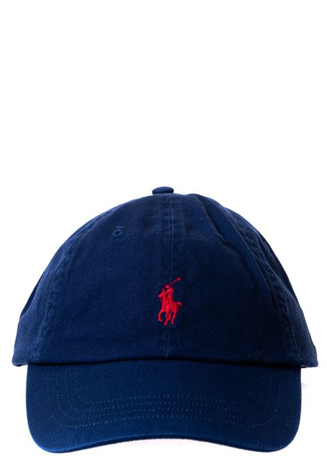 BLUE COTTON HAT WITH FRONT LOGO EMBROIDERY POLO RALPH LAUREN | Hats | 710548524007