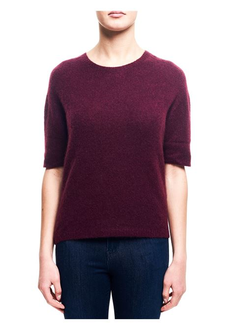 CASHMERE AND SILK PLUM SWEATER ROBERTO COLLINA | Sweaters | D0122135