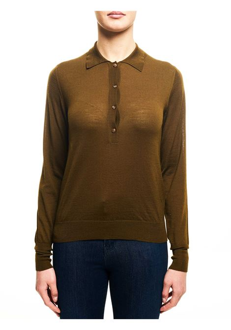 BROWN WOOL SWEATER ROBERTO COLLINA | Sweaters | D0300423
