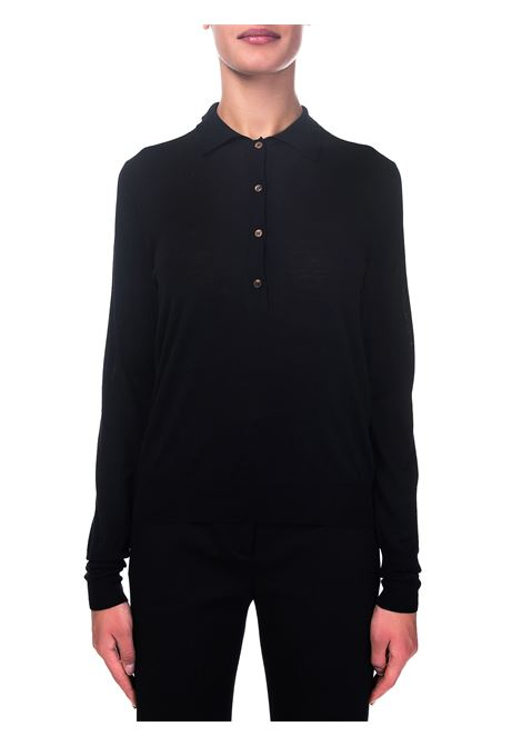 BLACK WOOL SWEATER ROBERTO COLLINA | Sweaters | D03004D0309