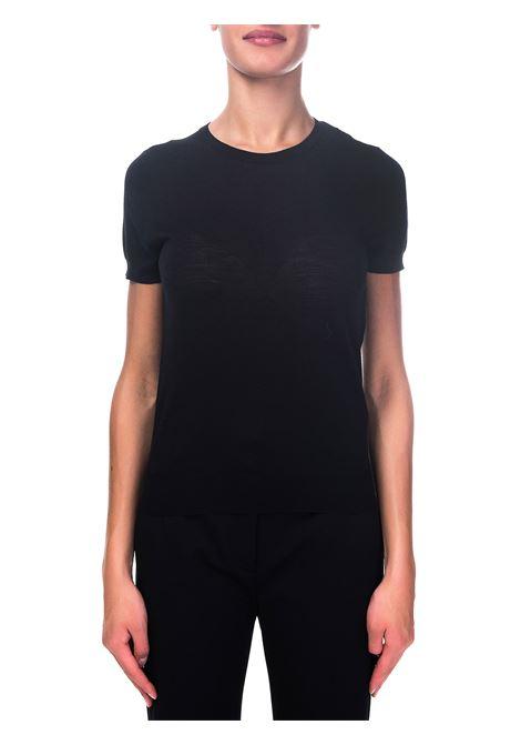 BLACK MERINO WOOL T-SHIRT ROBERTO COLLINA | T-shirt | D03021D0309