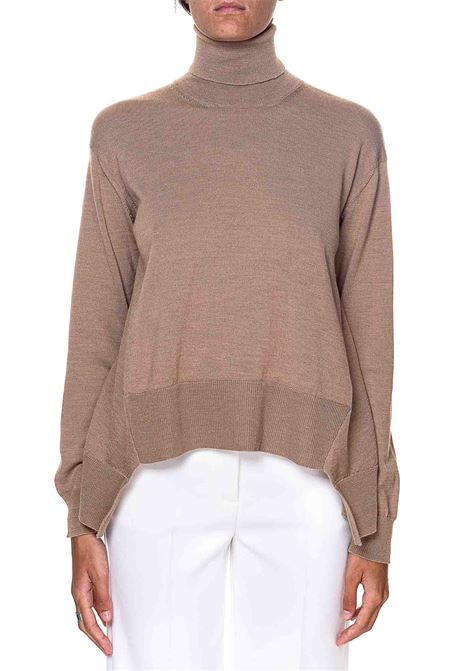 HIGH NECK BEIGE SWEATER IN WOOL ROBERTO COLLINA | Sweaters | D08103D0805