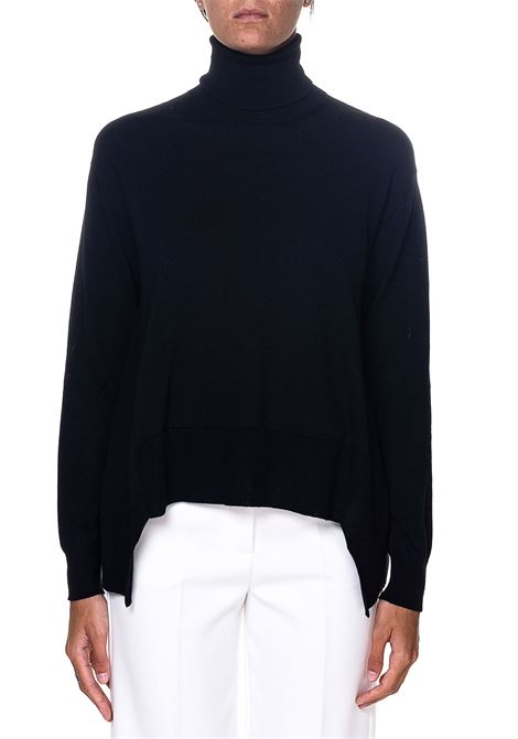 HIGH NECK BLACK SWEATER IN WOOL ROBERTO COLLINA | Sweaters | D08103D0809