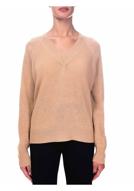 CAMEL SWEATER IN WOOL AND CASHMERE ROBERTO COLLINA | Sweaters | D40002D4005