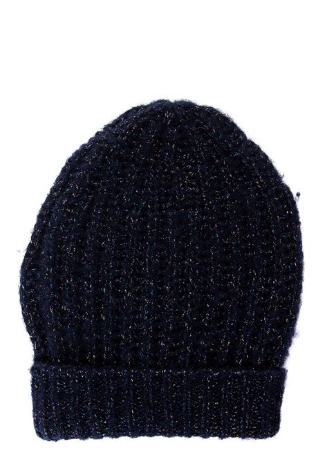BLUE LUREX WOOL BLEND HAT ROBERTO COLLINA | Hats | D42351D4210