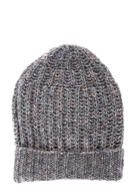 GRAY LUREX WOOL BLEND HAT ROBERTO COLLINA | Hats | D42351D4218