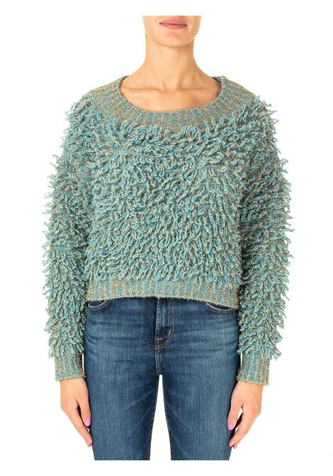 MULTICOLOR SWEATER IN A CASHMERE AND WOOL BLEND ROBERTO COLLINA | Sweaters | D43001D4315