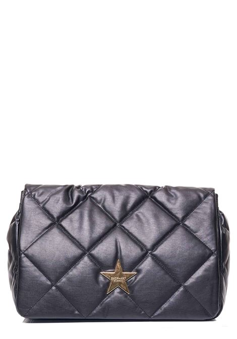 BLACK QUILTED SHOPPER BAG WITH FRONT LOGO APPLICATION SHOP*ART | Bags | SA030118NERO