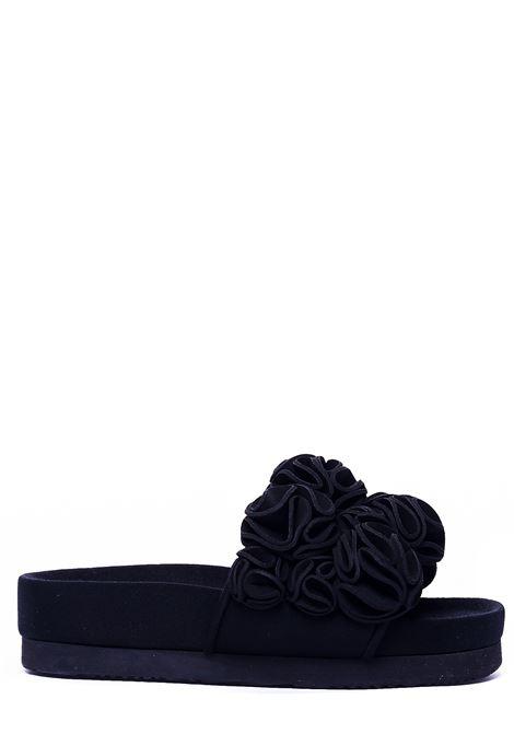 BLUE FLAT SANDALS SUecomma bonnie | Slide Sandals | D14DX16002MULTICOLOR