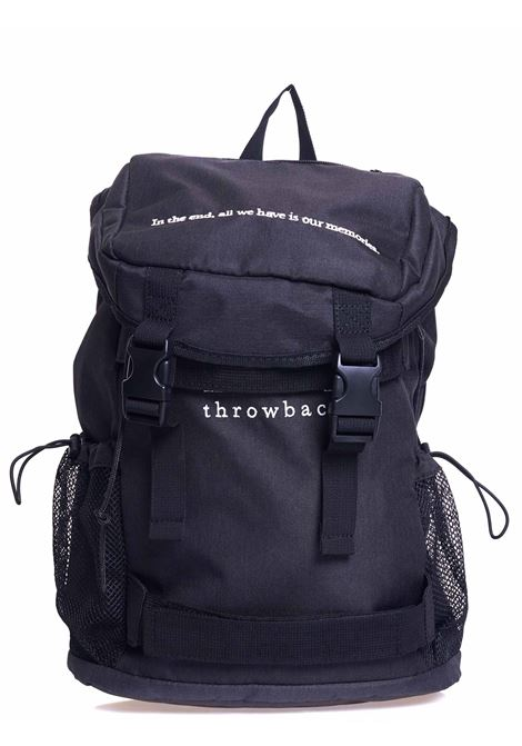 ZAINO NERO CON INTARSIO LOGO FRONTALE THROWBACK | Zaini | TBA-BACKPACKNERO
