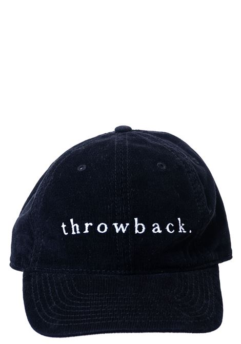 BLACK COTTON HAT WITH FRONT LOGO EMBROIDERY THROWBACK | Hats | TBA-HATNERO