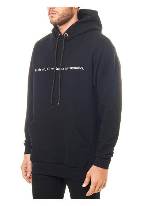 BLACK COTTON SWEATSHIRT WITH FRONT PRINT MEMORIES MODEL THROWBACK | Sweatshirts | TBSMEMORIESNERO