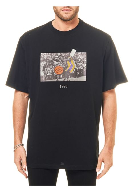 BLACK COTTON T-SHIRT WITH FRONT PRINT ALLEN MODEL THROWBACK |  | TBTALLENNERO