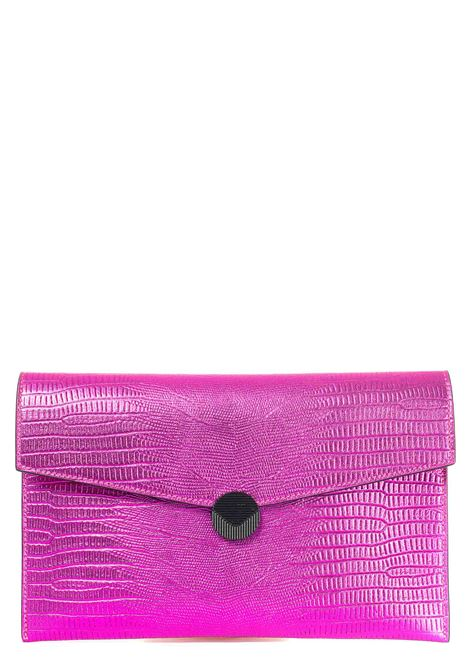 FUCHSIA CLUTCH IN LEATHER PATTY MODEL VISONE |  | PATTYPRINTEDLIZARDLEATHERBIGFUCSIA