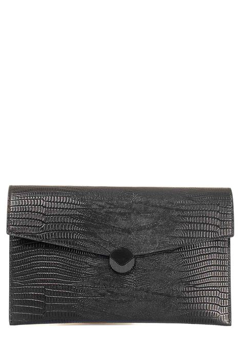 BLACK CLUTCH IN LEATHER PATTY MODEL VISONE |  | PATTYPRINTEDLIZARDLEATHERBIGNERO