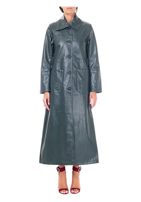 CAPPOTTO VERDE IN SIMILPELLE weili zheng | Cappotti | WWZCL78G01