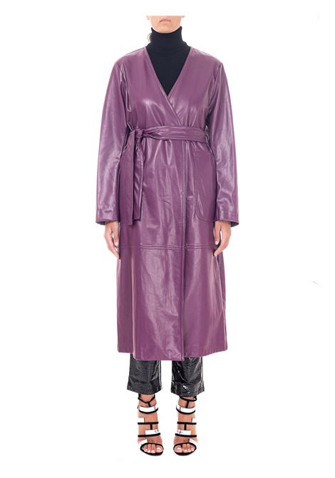 CAPPOTTO VIOLA IN SIMILPELLE weili zheng   Cappotti   WWZCL79V01