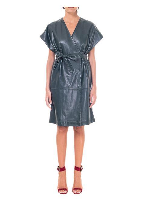 GREEN DRESS IN LEATHERETTE weili zheng | Dress | WWZJG19G01