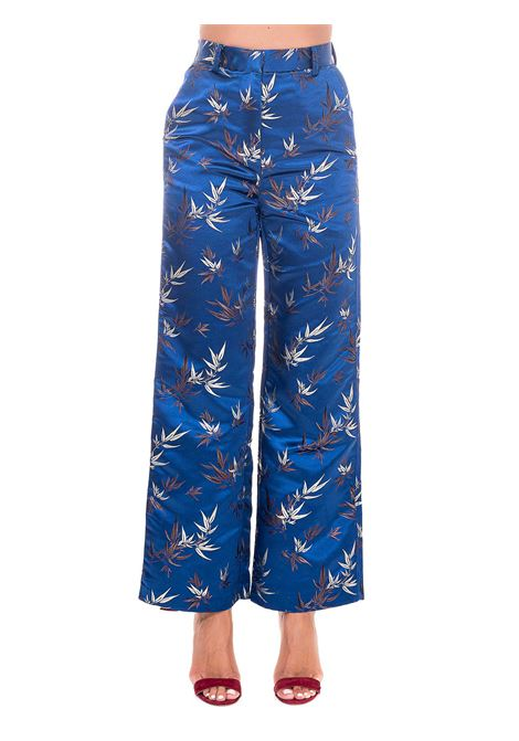 BLUE PANTS WITH EMBROIDERY weili zheng | Pants | WWZPL126BT2