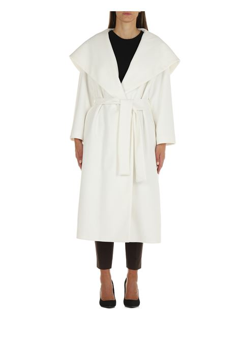DOUBLE-BREASTED COAT WITH HOOD ACTUALEE   Coats   CT000420BIANCO