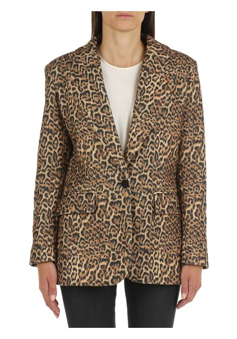 SINGLE-BREASTED JACKET WITH SPOTTED PATTERN ACTUALEE   Jackets   GI000892MACULATO