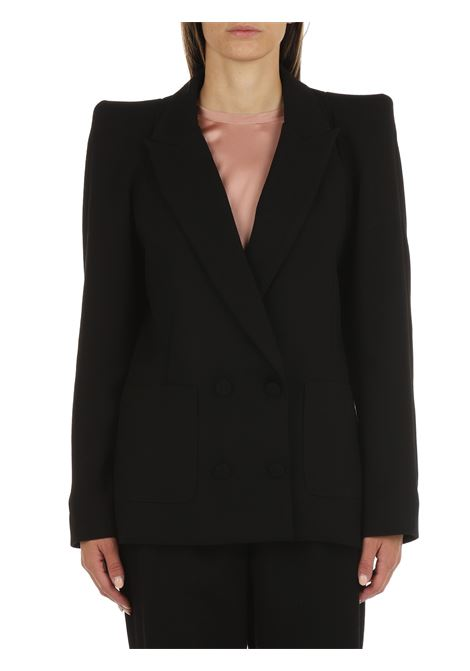 BLACK DOUBLE-BREASTED JACKET ACTUALEE   Jackets   GI000894NERO