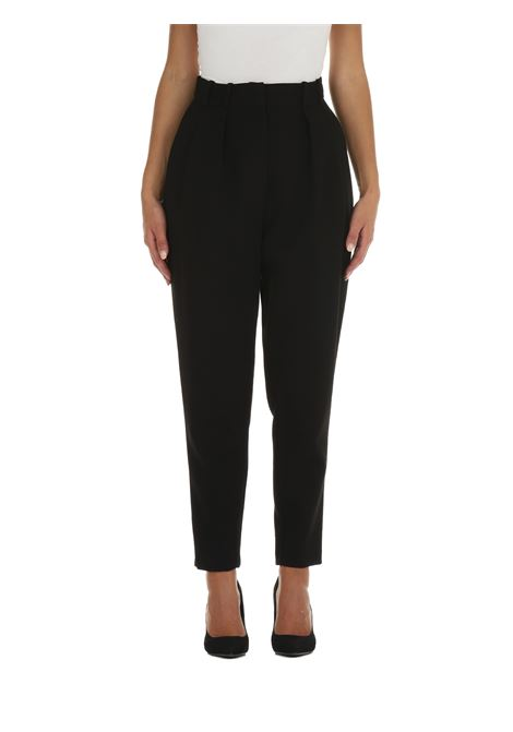 BLACK CANVAS PANTS ACTUALEE | Trousers | PA002755NERO