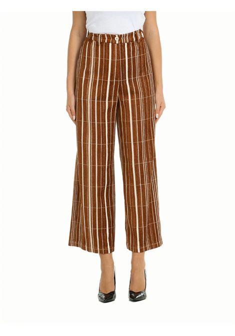 WIDE TROUSERS IN MULTI-STRIPE VELVET ALYSI | Trousers | 151124A1003CAR