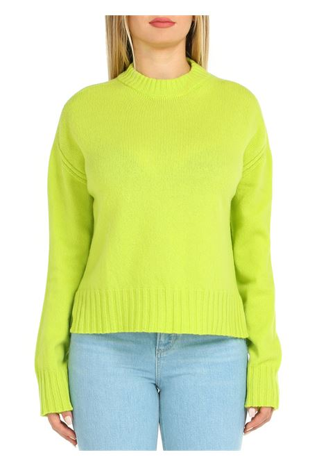 MAGLIA IN LANA LIME ALYSI | Maglie | 251460A1203LIME